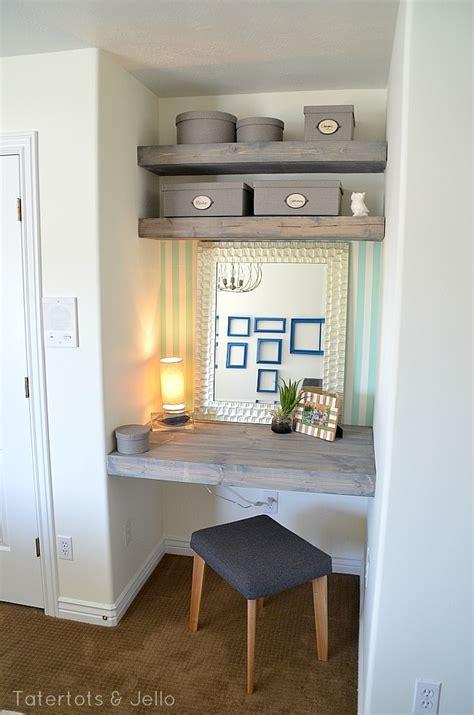 diy floating desk  shelves   bedroom