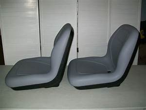 Two  2  Gray High Back Seats John Deere Gator  Snapper