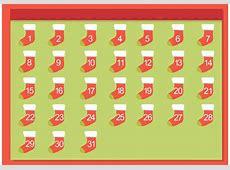 Free Christmas Stocking Advent Calendar Download Free