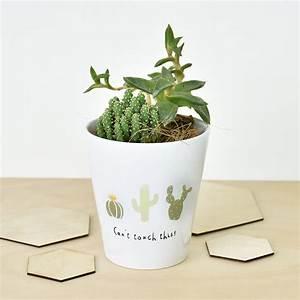 Pot A Cactus : can 39 t touch this 39 cactus plant pot cactus print ~ Farleysfitness.com Idées de Décoration