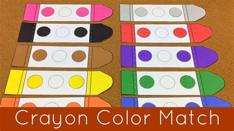 color matching activities for preschool crayon color match presschool and kindergarten learning 941