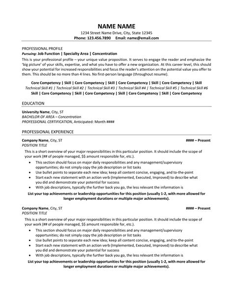 Professional Sle Resume by Resume Exle Resume Sle All Level Resumes Resume