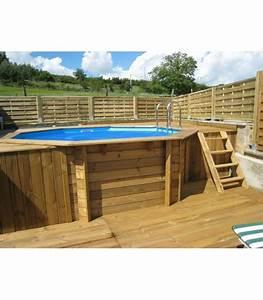 Piscine Bois Ronde : piscine ronde ocea 510x120 liner bleu piscine hors sol bois ~ Farleysfitness.com Idées de Décoration