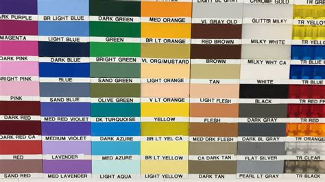 lego colors lego color chart update may 10 2018