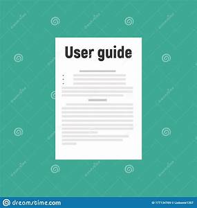 User Guide Document On Table Book Manual Vector