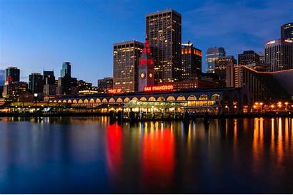 Francisco San Wallpapers Night Financial District Houses