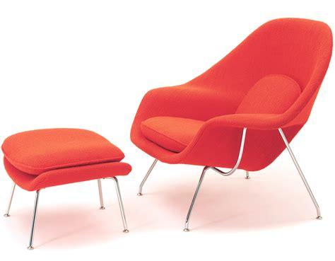 chaise saarinen womb lounge chair ottoman hivemodern com