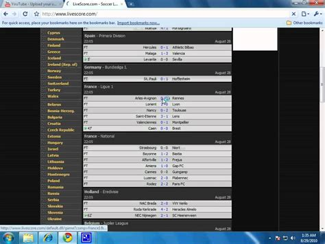 Livescore.com provides the latest live scores from tennis matches and competitions the world over. HOW TO KNOW LIVE SCORES OF FOOTBALL MATCHES. - YouTube