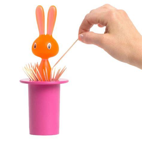A Di Alessi Magic Bunny Toothpick Holder   Pink: NOVA68.com