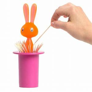 A Di Alessi Magic Bunny Toothpick Holder - Pink: NOVA68 com