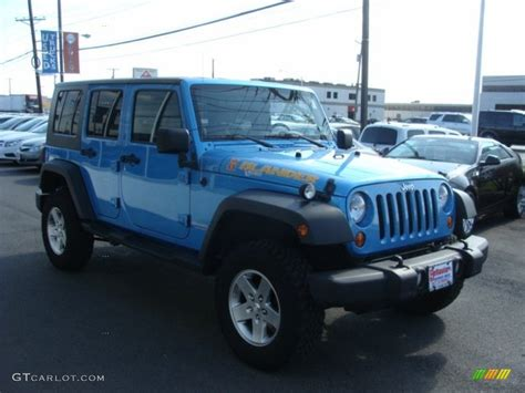 jeep surf 2010 surf blue pearl jeep wrangler unlimited islander