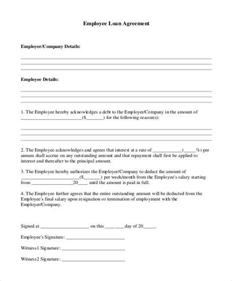sample loan agreement form  sample  format