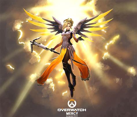 Overwatch Mercy Fanart By Hyunigraphy On Deviantart