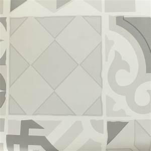 Tissu Carreau De Ciment : tissu toile cir e toile cir e oeko tex carreau de ciment gris mpm ~ Teatrodelosmanantiales.com Idées de Décoration