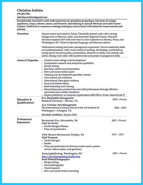 culinary resume exles excellent culinary resume sles to help you approved