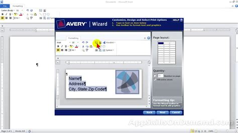 avery wizard lesson 5 avery address label 5160 basic