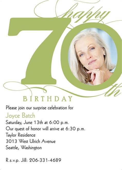 Download 70th Birthday Invitations Ideas 70th birthday