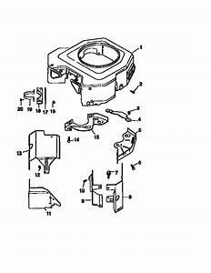 Blower Housing And Baffles Diagram  U0026 Parts List For Model Cv22s67515 Kohler