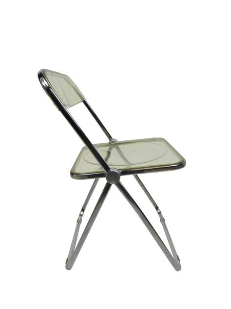 Acrylic Folding Chair by Mid Century Lucite Acrylic Plia Folding Chair At 1stdibs