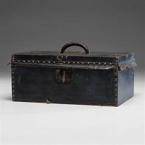 robert burr leather document box cowan39s auction house With leather document box