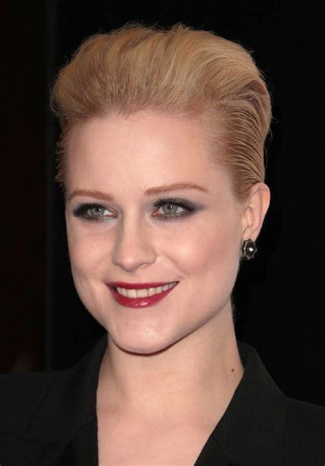 Evan Rachel Wood Short Hairstyle: Elegant Slicked back Bob