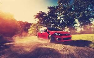 Red Golf GTI Drift wallpapers Red Golf GTI Drift stock