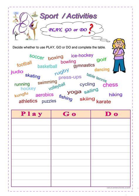 Sport  Activities Worksheet  Free Esl Printable Worksheets Made By Teachers
