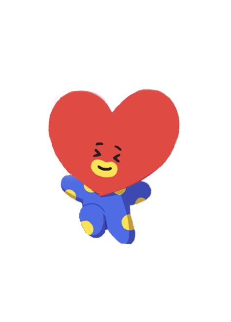 tata heart bt bts alien cute  happy love blue red