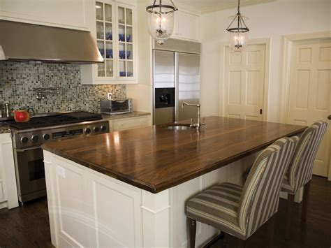 wood island tops kitchens a guide to 7 popular countertop materials diy