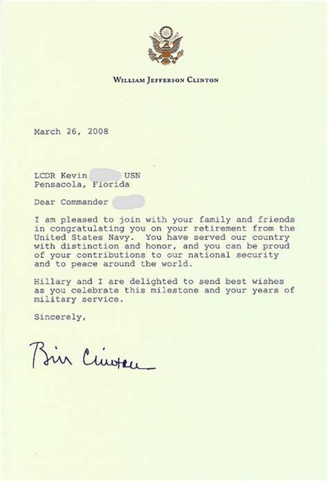 personal letter   president bill clinton
