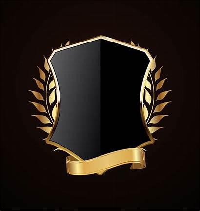 Shield Vector Golden Retro Gold Laurels Laurel
