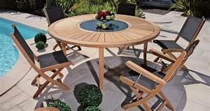 Petite Table De Jardin : salon de jardin avec table ronde petite table de terrasse ~ Dailycaller-alerts.com Idées de Décoration