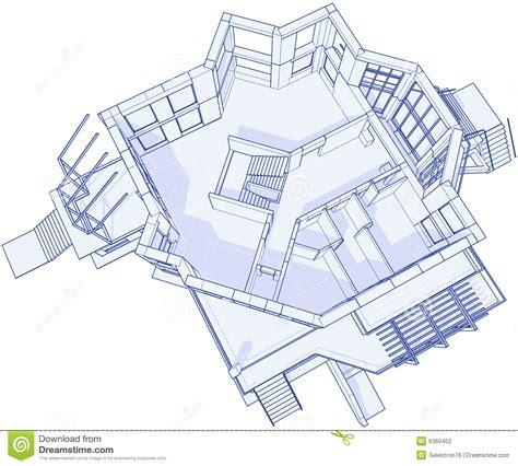 design blueprints modern house blueprint stock photography image 6360402