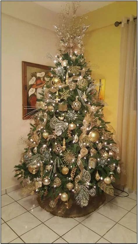como decorar arboles de navidad dorado  plata  malla