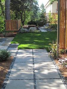amenagement allee de jardin et chemin de pierre en 95 idees With allee de jardin en cailloux
