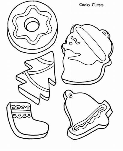 Coloring Cookie Cookies Christmas Pages Colouring Printable