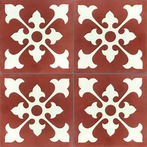 Carreaux De Ciment Rouge : carreaux de ciment belfast rouge blanc pl78195 ~ Melissatoandfro.com Idées de Décoration