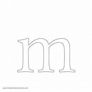 image gallery lowercase m With upper and lowercase letter stencils