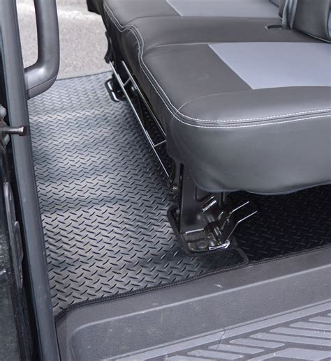 ford transit custom crew cab heavy duty rubber rear floor mat