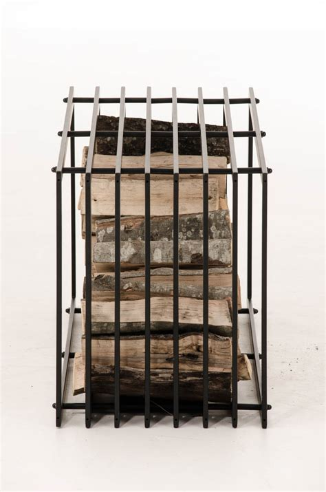 metal wood rack firewood rack irving black metal log basket stand holder firepalce wood storage ebay