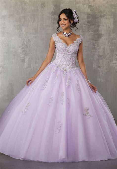 quinceanera dresses light purple cap sleeve lace quinceanera dress by mori valencia