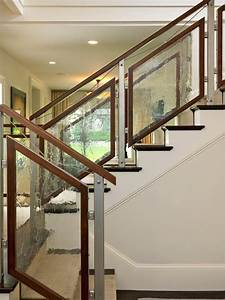 tempered glass staircase railing staircase contemporary