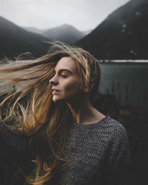 enchanting nature embracing seductive beauty  portraits