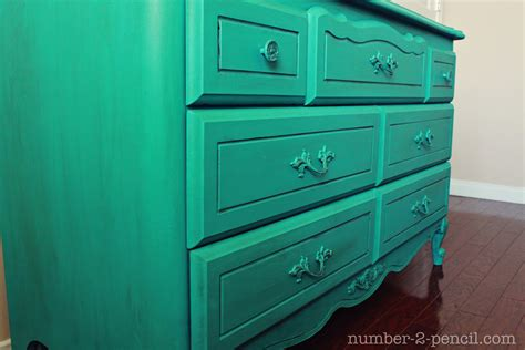Turquoise Dresser Makeover With Chalk Paint