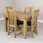Oak Dining Table Chairs by Cheshire Rustic Oak Small Extending Dining Table