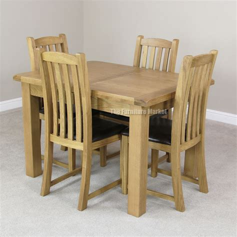 cheshire rustic oak small dining table set 4 slat back