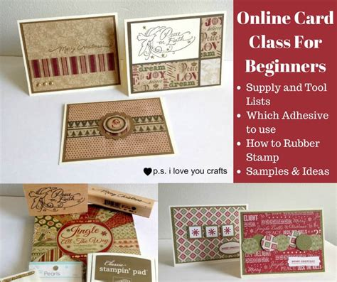 Online Card Class For Beginners  Ps I Love You Crafts