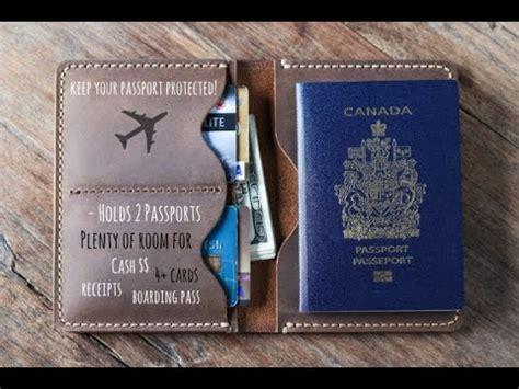 leather travel wallet   passport  joojoobs youtube