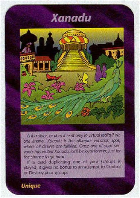 Illuminati Xanadu New World Order Game Trading Card