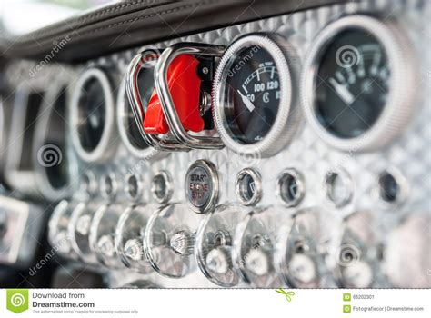 Interior Of A Spijker Sportscar Stock Photo